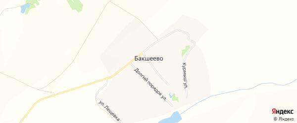Карта деревни Бакшеево в Нижегородской области с улицами и номерами домов