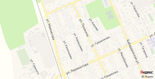Улица Карашаева в Тереке с номерами домов на карте. Спутник и схема онлайн