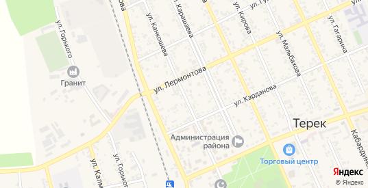 Улица Канкошева в Тереке с номерами домов на карте. Спутник и схема онлайн