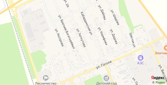 Улица им. Хаткутова в Тереке с номерами домов на карте. Спутник и схема онлайн