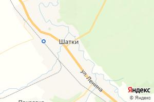 Карта пгт Шатки Нижегородская область