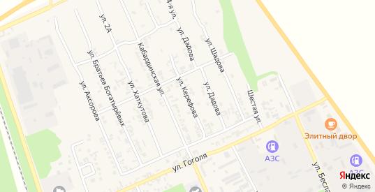 Улица Керефова в Тереке с номерами домов на карте. Спутник и схема онлайн