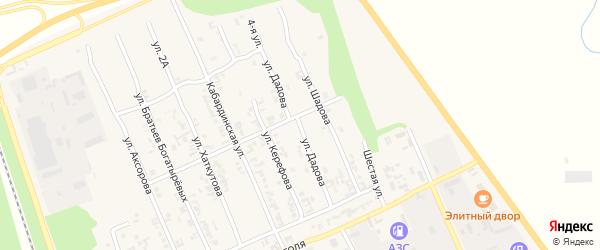 Улица Дадова на карте Терека с номерами домов
