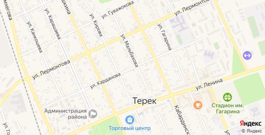 Улица Карданова в Тереке с номерами домов на карте. Спутник и схема онлайн