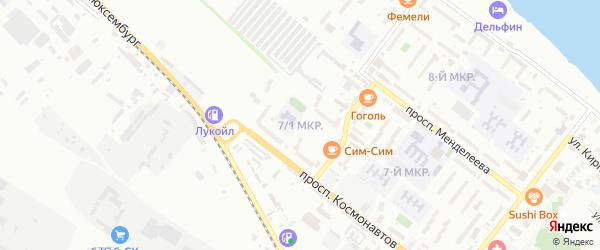 Микрорайон 7/1 на карте Буденновска с номерами домов