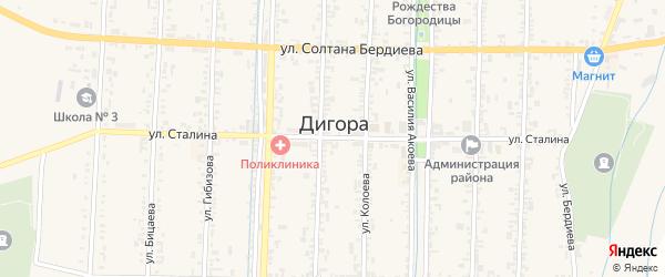 Улица Сталина на карте Дигоры с номерами домов