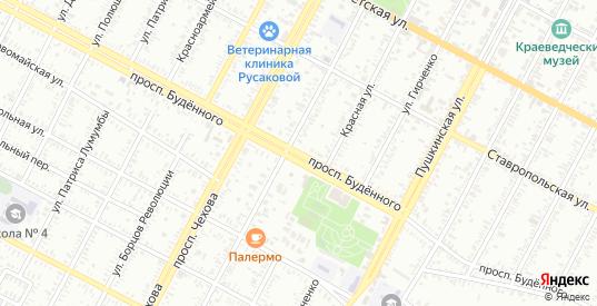 Проспект Буденного в Буденновске с номерами домов на карте. Спутник и схема онлайн
