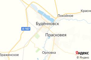 Карта г. Будённовск Ставропольский край