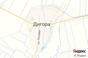 Карта г. Дигора Республика Северная Осетия-Алания