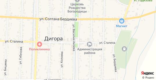 Улица Карла Маркса в Дигоре с номерами домов на карте. Спутник и схема онлайн