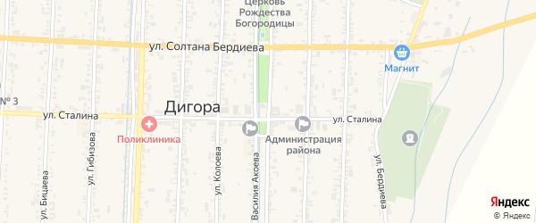 Улица Карла Маркса на карте Дигоры с номерами домов