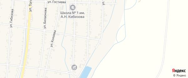 Улица Тихилова на карте Дигоры с номерами домов