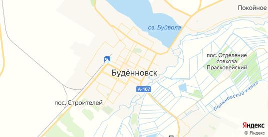 Карта Буденновска с улицами и домами подробная. Показать со спутника номера домов онлайн