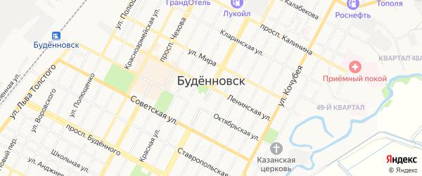 Карта поселка СМП-255 города Буденновска в Ставропольском крае с улицами и номерами домов
