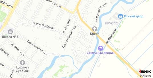 Пролетарская улица в Буденновске с номерами домов на карте. Спутник и схема онлайн