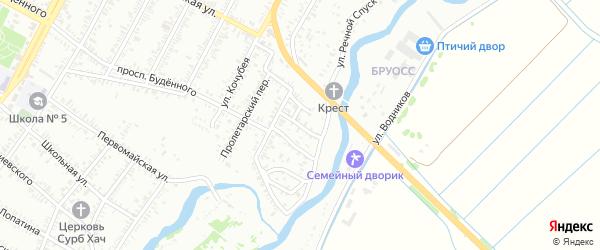 Цветочный переулок на карте Буденновска с номерами домов