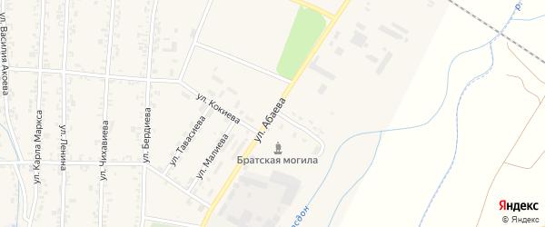 Улица Абаева на карте Дигоры с номерами домов
