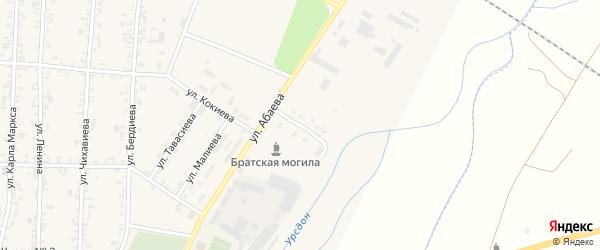 Улица Кибизова на карте Дигоры с номерами домов