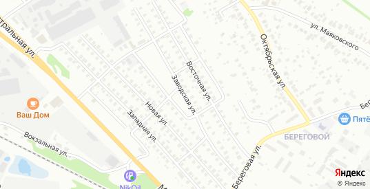 Заводская улица в Кстово с номерами домов на карте. Спутник и схема онлайн