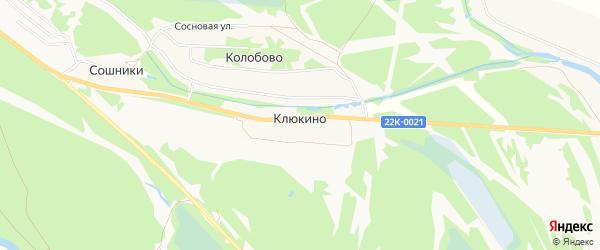 Карта деревни Клюкино (Редькинский с/с) города Бора в Нижегородской области с улицами и номерами домов