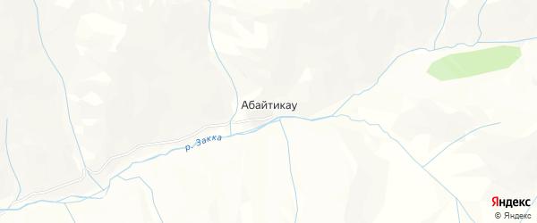 Карта села Абайтикау в Северной Осетии с улицами и номерами домов