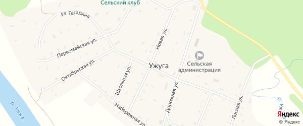 Новая улица на карте поселка Ужуги Костромской области с номерами домов
