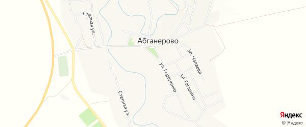 Карта села Абганерово в Волгоградской области с улицами и номерами домов