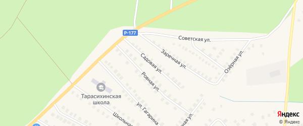 Садовая улица на карте поселка Тарасихи с номерами домов