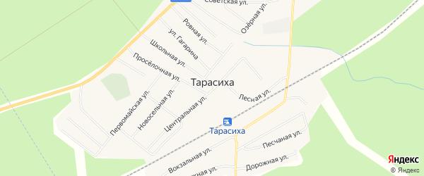 Карта поселка Тарасихи города Семенова в Нижегородской области с улицами и номерами домов