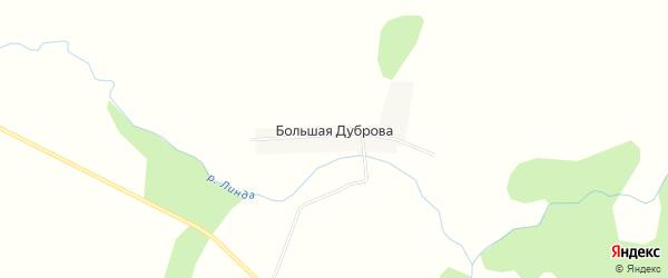 Карта деревни Большая Дуброва города Семенова в Нижегородской области с улицами и номерами домов