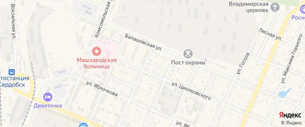 Балашовский проезд на карте Сердобска с номерами домов
