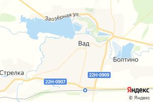Карта с. Вад Нижегородская область