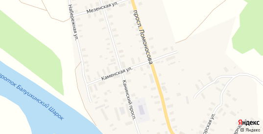 Каменская улица в Мезени с номерами домов на карте. Спутник и схема онлайн