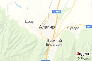 Карта г. Алагир Республика Северная Осетия-Алания