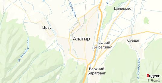 Карта Алагира с улицами и домами подробная. Показать со спутника номера домов онлайн