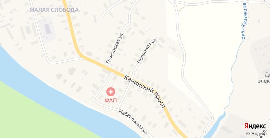Полярная улица в Мезени с номерами домов на карте. Спутник и схема онлайн