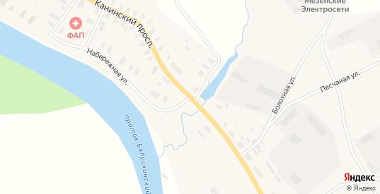 Кузнецовская улица в Мезени с номерами домов на карте. Спутник и схема онлайн