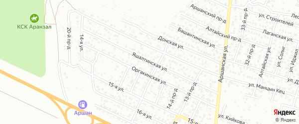 Яшалтинская улица на карте Элисты с номерами домов