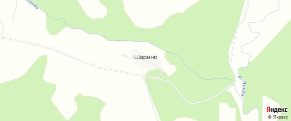 Карта деревни Шарино города Семенова в Нижегородской области с улицами и номерами домов