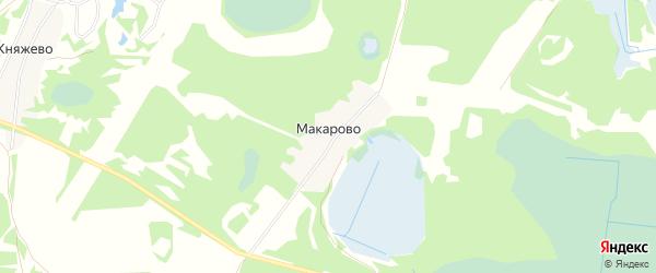 Карта деревни Макарово (Краснослободский с/с) города Бора в Нижегородской области с улицами и номерами домов