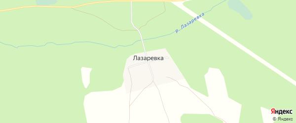 Карта деревни Лазаревки города Семенова в Нижегородской области с улицами и номерами домов