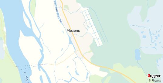 Карта Мезени с улицами и домами подробная. Показать со спутника номера домов онлайн
