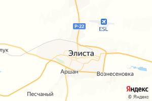 Карта г. Элиста Республика Калмыкия