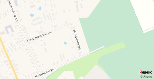 Улица Строителей в Мезени с номерами домов на карте. Спутник и схема онлайн