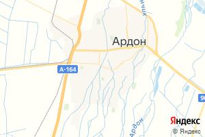 Карта г. Ардон Республика Северная Осетия-Алания