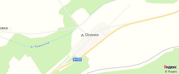 Карта поселка Осинки (Тарасихинский с/с) города Семенова в Нижегородской области с улицами и номерами домов