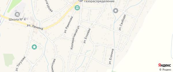 Улица Епхиева на карте Ардона с номерами домов