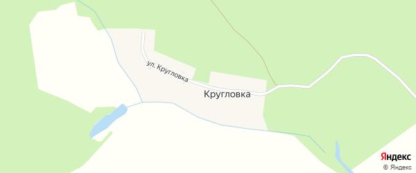 Улица Кругловка на карте деревни Кругловки Пензенской области с номерами домов
