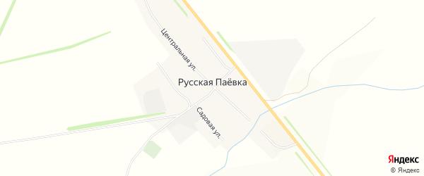 Карта села Русской Паевки в Мордовии с улицами и номерами домов