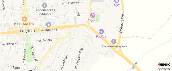 Улица Островского на карте Ардона с номерами домов